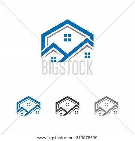 Real Estate Vector Logo Design, Eco Real Estate Logo, Tree With Real Estate Logo,  Building  Logo De