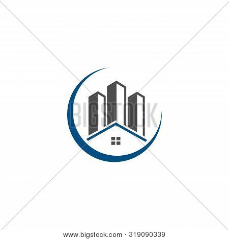 poster of real estate vector logo design, eco real estate logo, Tree with real estate logo,  building  logo design,  real estate vector logo template, Logo for a property, Abstract home logo, Building Estate Logo with Skyscrapers, house or home  logo design,