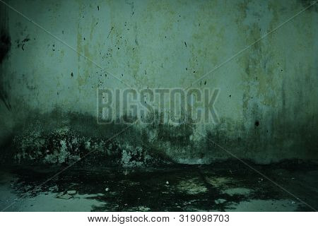 Dirty Old Wall Empty House Horror Background