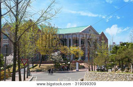 Daegu, South Korea - 6 April, 2019: Keimyung University In Daegu, South Korea. Keimyung University W