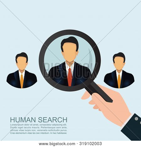 Recruitment Concept Looking For An Employee.looking For Talent. Search For Businessman.job Search Co