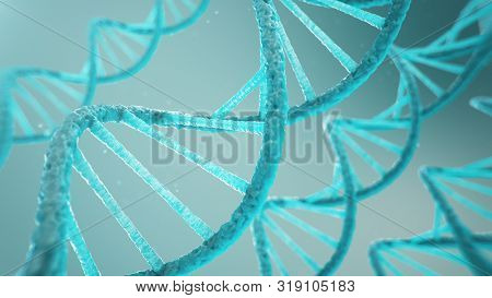 Double Helical Structure Of Dna, Dna Molecule, Rna. The Concept Of Biochemistry, Biotechnology. Geno