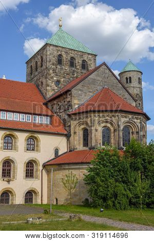 Hildesheim, Germany - 1 July 2019: St Michael Church At Hildesheim On Germany, Unesco World Heritage
