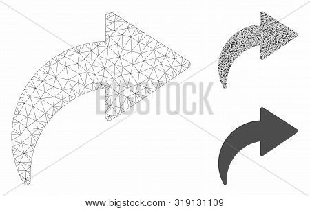 Mesh Redo Model With Triangle Mosaic Icon. Wire Frame Polygonal Mesh Of Redo. Vector Mosaic Of Trian