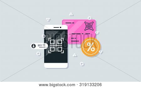 Qr Code Scanning With Mobile Phone. Capture Qr Code On Mobile Phone.