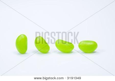 Four Green Jellybeans
