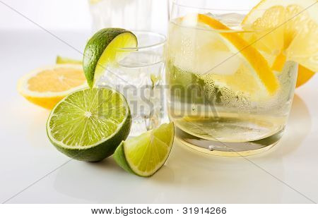 Drinks With Lemon And Lime.