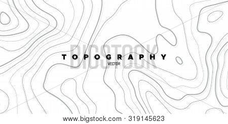 Topography Relief. Abstract Background. Vector Illustration. Outline Cartography Landscape. Modern P