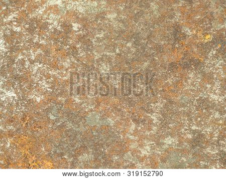 Old Metal Iron Rust Background And Texture. Rusty Metal Wall Covered With Cracked Paint. Texture,rus