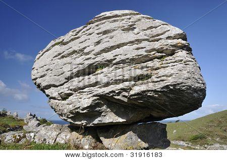 Limestone Glacial Erratic Boulder