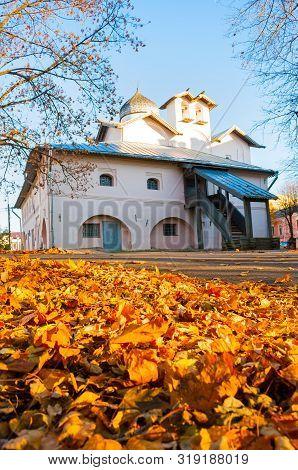 Veliky Novgorod, Russia. Church Of The Myrrh-bearers At The Yaroslav Courtyard, Veliky Novgorod, Rus