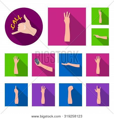 Isolated Object Of Animated And Thumb Symbol. Collection Of Animated And Gesture Bitmap Icon For Sto
