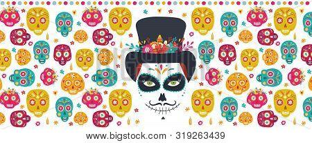 Dia De Los Muertos, Day Of The Dead, Mexican Holiday Banner