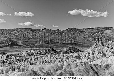 Zabriskie Point Mudstones Form Badlands Death Valley National Park California