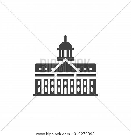 Dublin Famous Landmark Vector Icon. Filled Flat Sign For Mobile Concept And Web Design. Ireland City