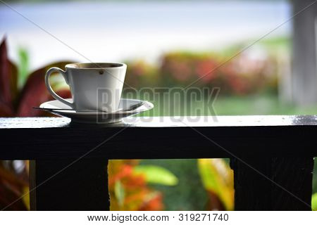 Hot coffee mellow With relaxing, stressful, drinking coffee poster