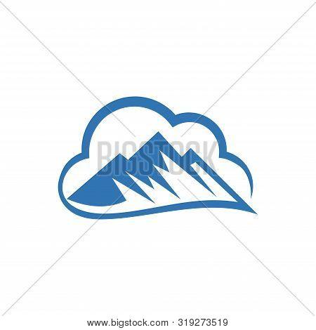 Vector Mountain And Outdoor Adventures Logo, Mountain Logo Template. Minimalist Landscape Hills / Mo