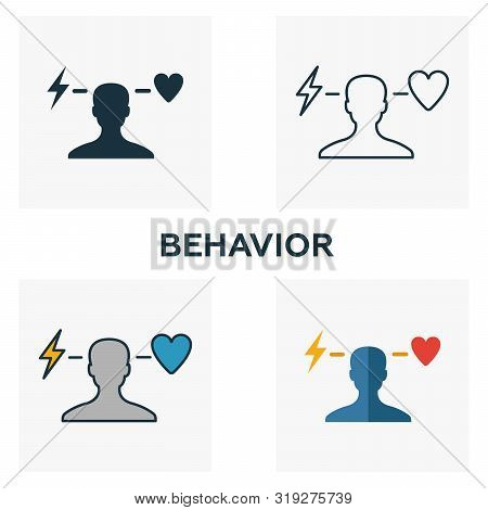 Behavior Icon Set. Four Elements In Diferent Styles From Business Ethics Icons Collection. Creative