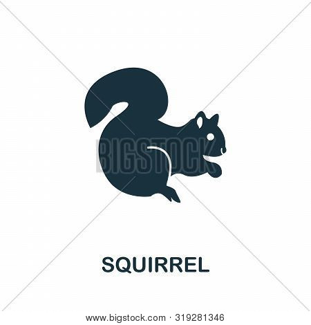 Squirrel Vector Icon Symbol. Creative Sign From Squirrel Icons Collection. Filled Flat Squirrel Icon