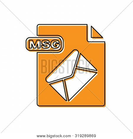 Orange Msg File Document. Download Msg Button Icon Isolated On White Background. Msg File Symbol. Ve