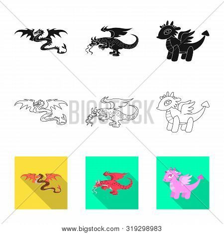 Isolated Object Of Legend And Halloween Icon. Collection Of Legend And History Stock Vector Illustra