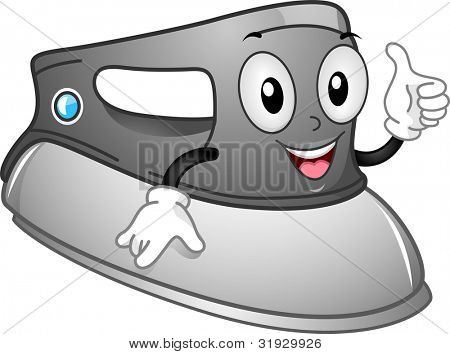 Mascot Illustration of an Iron