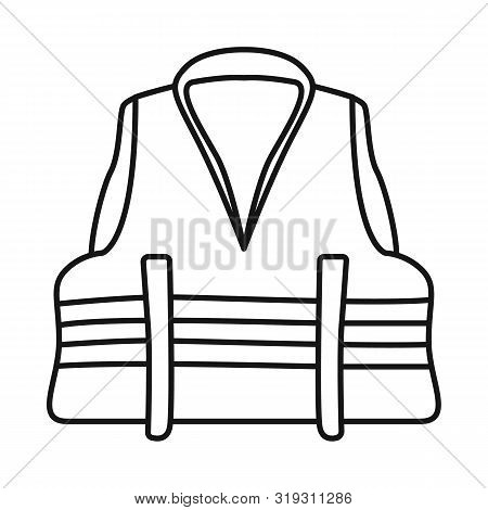 Isolated Object Of Vest And Jacket Symbol. Collection Of Vest And Lifejacket Stock Vector Illustrati