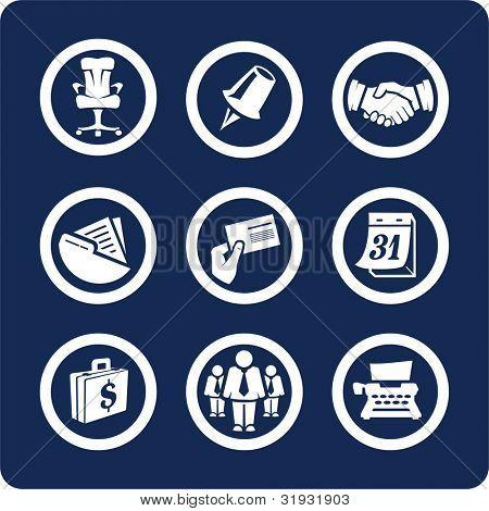 Negocio y oficina (p.2) para ver todos los iconos, búsqueda por palabras clave: