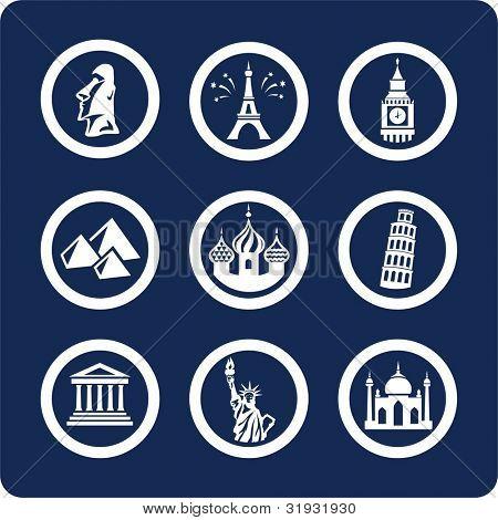 Lugares famosos del mundo (p.1) para ver todos los iconos, búsqueda por palabras clave: