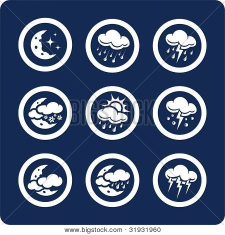 """Weather icons (p.2) To see all icons, search by keywords: """"agb-vector"""" or """"agb-raster"""""""