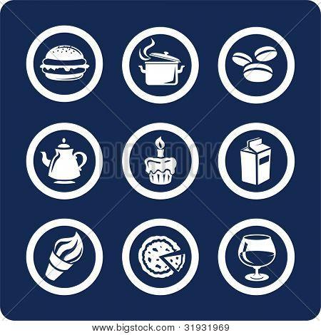 Comida y cocina (p.1). Para ver todos los iconos, búsqueda por palabras clave: