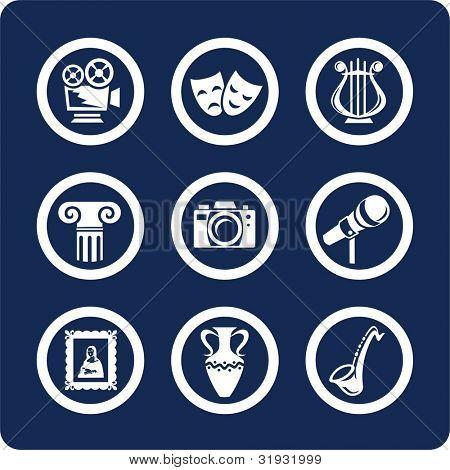 Cultura y arte (p.1). Para ver todos los iconos, búsqueda por palabras clave: