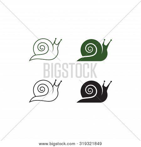 Snail Logo Template Design Vector, Sign Snail. Snail Symbol.  Icon Snail.  Snail Logo Abstract Desig