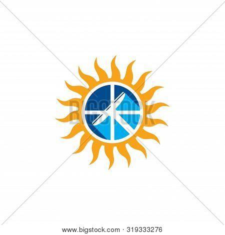 Vector - Sunburst Star Icon, Sun Burst Shapes. Vintage Light Starburst Logo, Sunburst Minimal Logo F