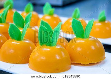 A Delicious Orang Dome Cake Testy Sweet