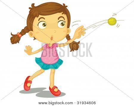 Illustration of a child throwing a ball