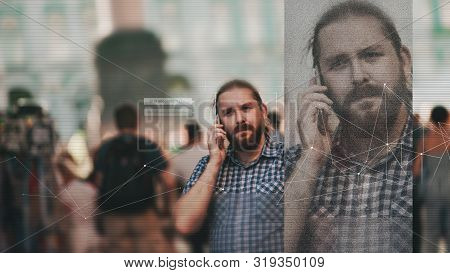 Facial Recognition And Search And Surveillance Of A Person In The Modern Digital Age, The Concept. M