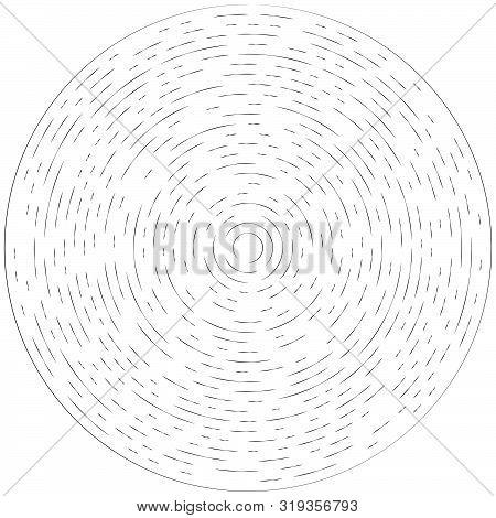 Radial Ray, Beam Lines. Circular Radiation Stripes Pattern. Gleam, Sparkle Effect. Glaze, Flare, Aur