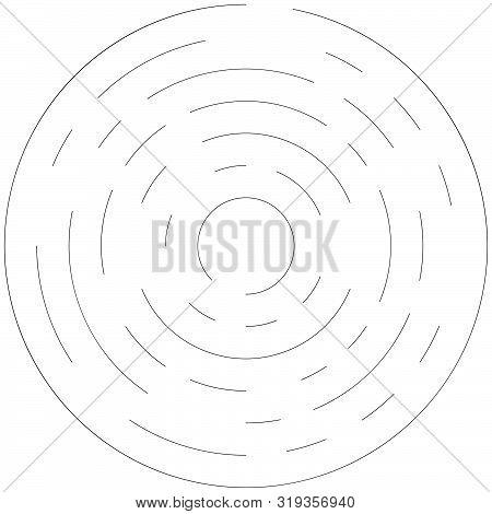 poster of Radial ray, beam lines. Circular radiation stripes pattern. Gleam, sparkle effect. Glaze, flare, aurora design. Sunburst, starburst concentric lines as twinkle, radiance, glitter illustration. Shimmer, brilliance, glisten effect