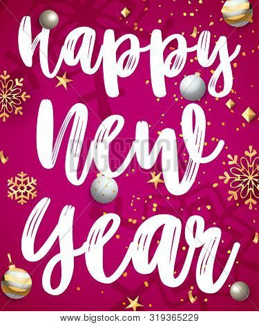 Happy New Year Lettering 88