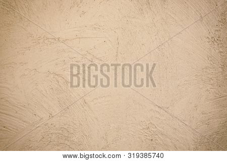 Light Coloured Texture Background. Beige Plastered Wall. Cement Wall Have Copy Space For Text. Textu