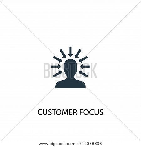 Customer Focus Icon. Simple Element Illustration. Customer Focus Concept Symbol Design. Can Be Used