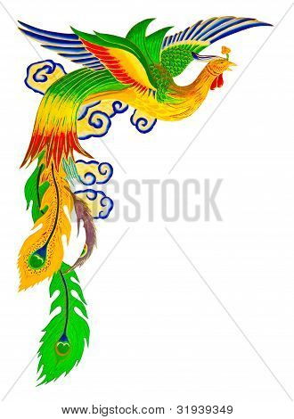 Chinese Peacock With Clipping Path