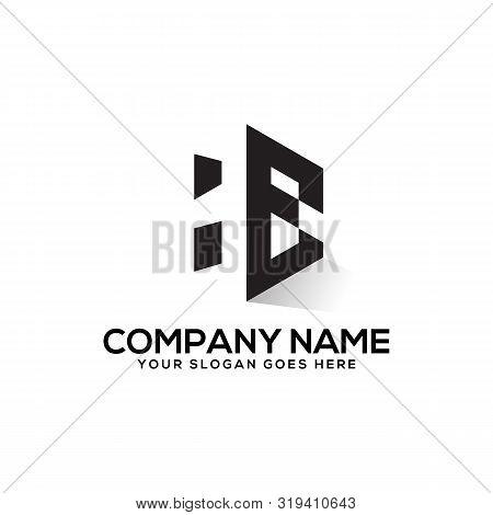 He Initial Logo Inspiration,  H And E   Creative Logo Vector,negative Space Logo Design