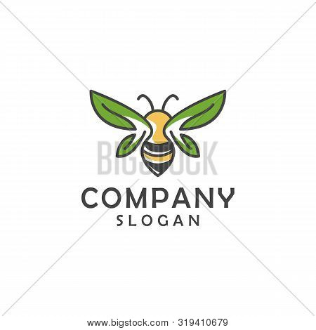 Natural Bee Logo Outline Minimalist Vector Collection