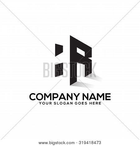 Hr Initial Logo Inspiration,  H And R  Creative Logo Vector,negative Space Logo Design