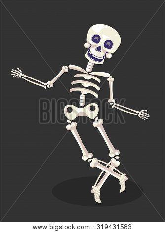 Dancing Skeleton, Mexican Day Of Dead Or Dia De Los Muertos