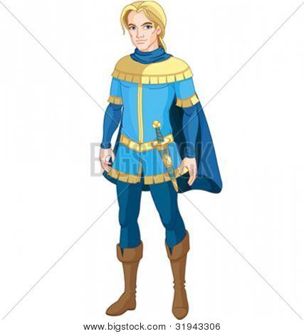 Illustration of brave Prince