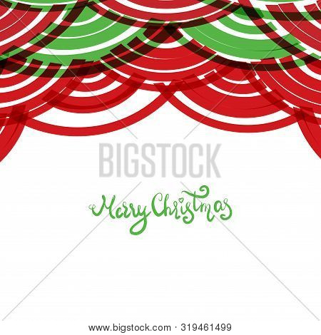 Seigaiha Or Seigainami Literally Means Wave Of The Sea. Merry Christmas Card Banner Design For Text.