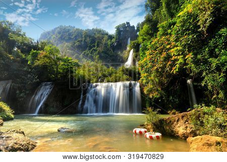 The Thi Lo Su waterfall in Thailand, the highest in the country